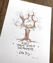 Load image into Gallery viewer, New Born Baby Gift in Pastel Blue - The Illustrated Tree Co