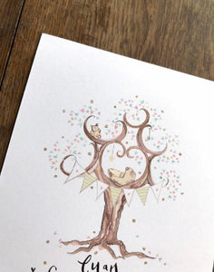 New Born Baby Gift in Yellow - The Illustrated Tree Co