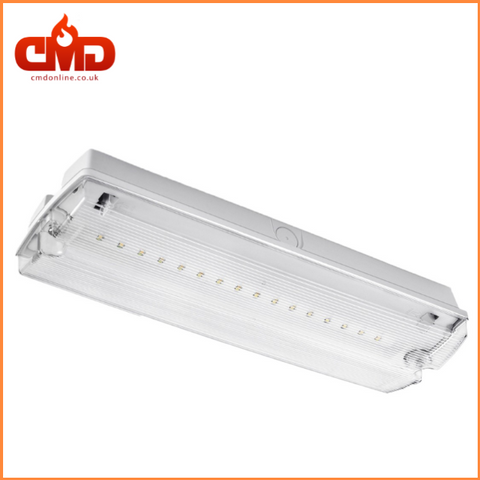 3w LED Emergency Bulkhead Maintained / Non-Maintained c/w Legend - CMD Online