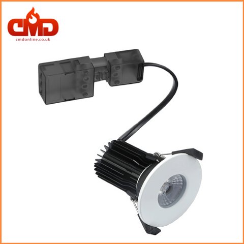 5.5w LED COB Fire Rated Downlights White Bezel - Dimmable
