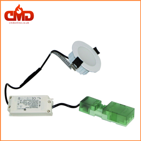 8w LED Fire Rated Downlights - Choice of Bezel - Dimmable - CMD Online