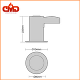 GU10 Fire Rated Short Can Downlights - Die Cast - Tilt - CMD Online