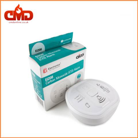Ei208 Carbon Monoxide Alarm - 10yr Lithium Backup Battery CO Alarm - CMD Online