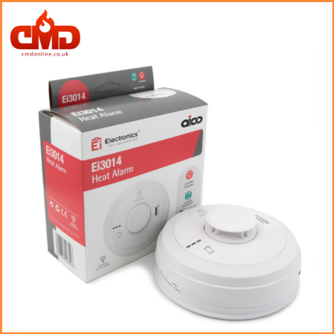 Ei3014 Heat Alarm - Mains Powered with 10yr Lithium Backup Battery - CMD Online