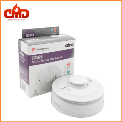 Ei3024 Multisensor Fire Alarm - Mains Powered with 10yr Lithium Backup Battery - CMD Online