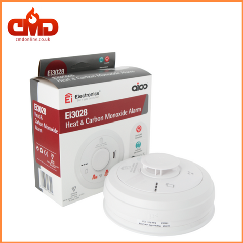Ei3028 Multisensor Heat and CO Alarm - Mains Powered with 10yr Lithium Backup Battery - CMD Online