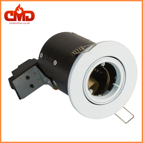 GU10 Fire Rated Downlights - Die Cast - Tilt - White