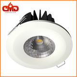 Fire-Rated 8W COB LED Downlight Dimmable 5000K - White Bezel *Clearance Stock* - CMD Online