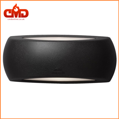 Outdoor Wall Light - Fumagalli Francy Up & Down LED Bulkhead for Indoor and Outdoor use - Black Body - CMD Online