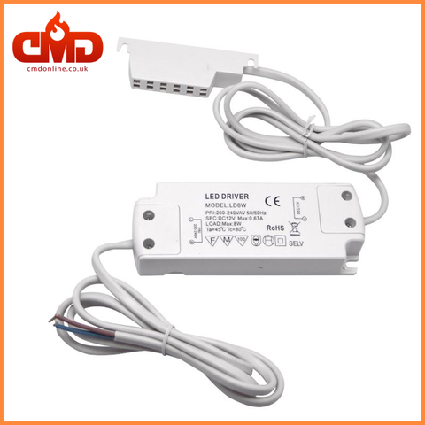 Power Supply for LED Cabinet Lights 8W 12V (LEDPS-8W) - CMD Online