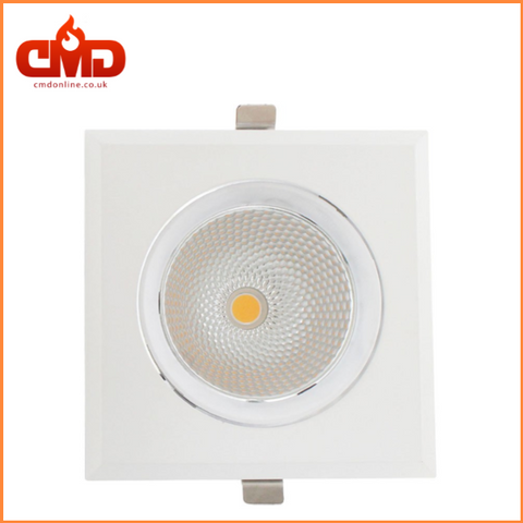 COB Downlight LED Square Rim Adjustable 30W 4000K White - CMD Online