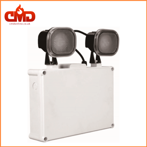 LED Emergency Twin Spot - IP65 - 2 x 5w Directional Heads - CMD Online