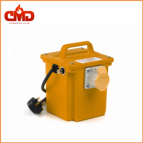 110v Site Transformers - Yellow Portable Transformers 1kVA to 5kVA