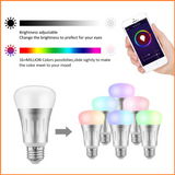 Wifi Smart LED Bulbs 6W E27 RGB + White - SHA5203-27 - Dim and Colour Change