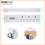WiFi Smart Power Strip Extension Box With USB - SHA5207 - CMD Online