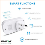 WiFi Smart Plugs With Energy Monitor, 16A UK Plug - SHA5264 - CMD Online