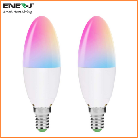 Wifi Smart LED Candle Bulbs 4W E14 RGB + White - SHA5287 - CMD Online