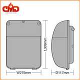 Slimline LED Wallpack 30W 6400K - Emergency and Photocell Options - CMD Online