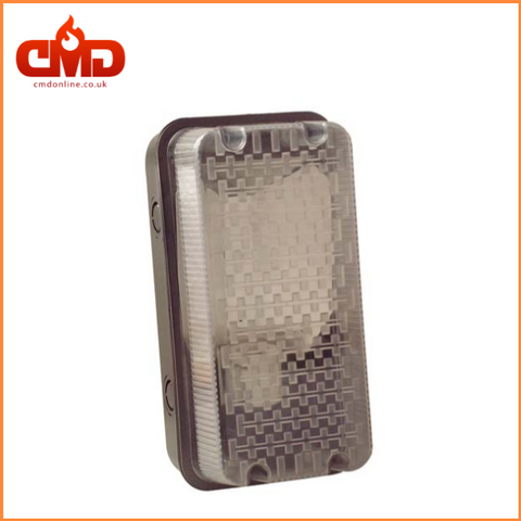Bulkhead - Max 100w BC - IP44 with Black Base and Prismatic Diffuser - CMD Online