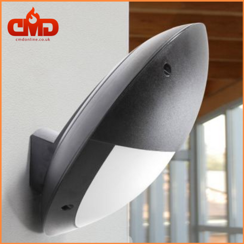 Tilted Round Eyelid LED Bulkhead Outdoor Wall Light - Fumagalli Lucia Tilt EL - CMD Online