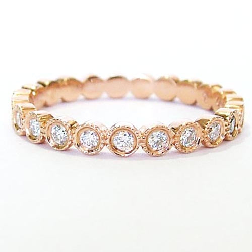 Rose Gold & Diamond Circle Band