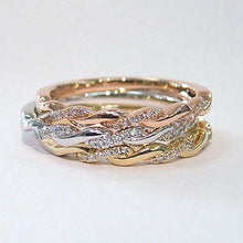 Load image into Gallery viewer, Twisted Diamond Stacking Ring