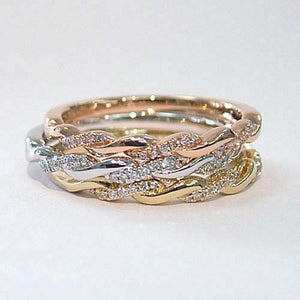 Twisted Diamond Stacking Band