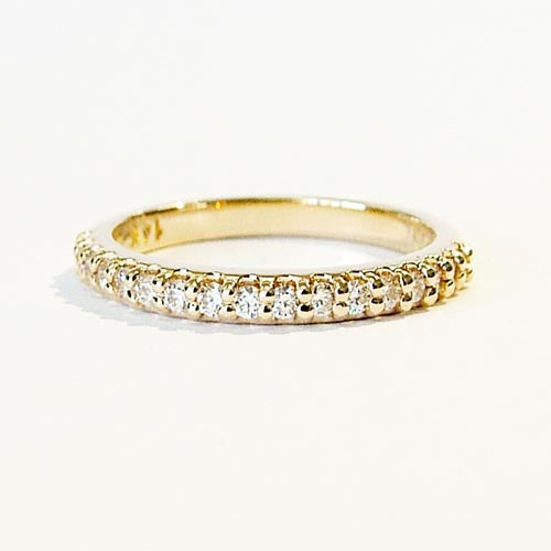 Yellow Gold 1/2 ct tw Lab Grown Diamond Band