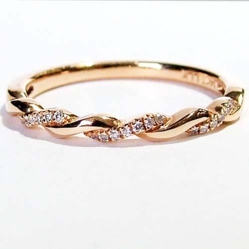 Twisted Diamond Stacking Ring