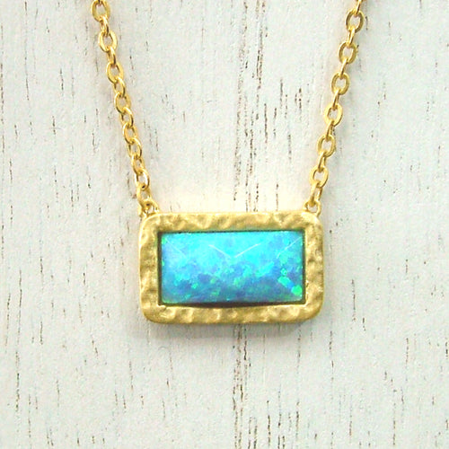 Created Turquoise Necklace