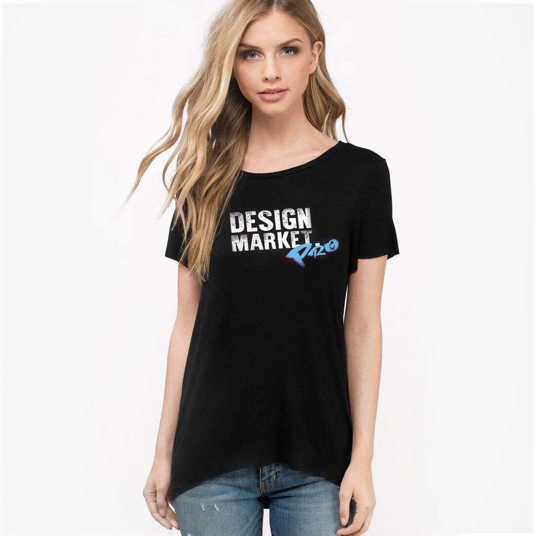 Woman's Design Market Pro Shirt - Black