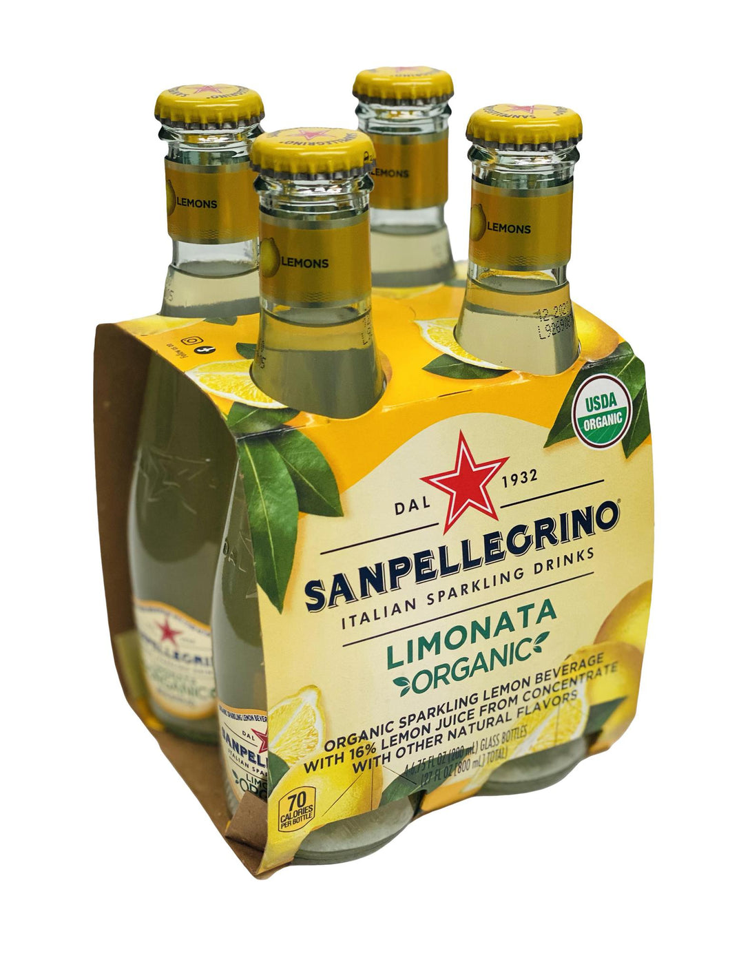 Sanpellegrino Limonata Organic Glass Bottles, 6.25 fl oz