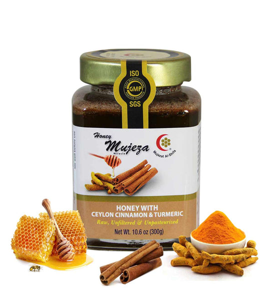 Wildflower Honey with Ceylon Cinnamon and Turmeric