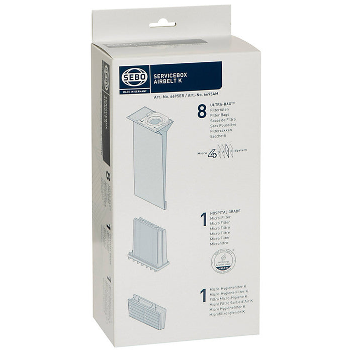 K Series service box - 8 Microfibre dustbags, 1 Pre filter and 1 Post filter 6695ER  Radford Vac Centre  - 1