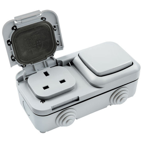 2 Gang Outdoor Socket IP54 Rated - Ready for all weather  Radford Vac Centre  - 1