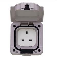 Storm Proof 1 Gang Outdoor Socket IP66 Rated  Radford Vac Centre  - 1