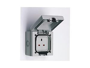 Storm Proof 1 Gang Outdoor Socket IP66 Rated  Radford Vac Centre  - 2