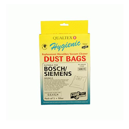 Microfibre dust bags x5 - Suitable for Karcher, Bosch and Siemens. Equivalent to type D,E,F,G Bosch bags  Radford Vac Centre  - 1
