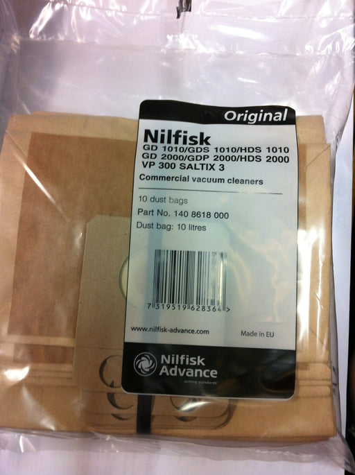 Genuine Nilfisk Saltix Dust Bags Mansfield Nottingham Derby Chesterfield