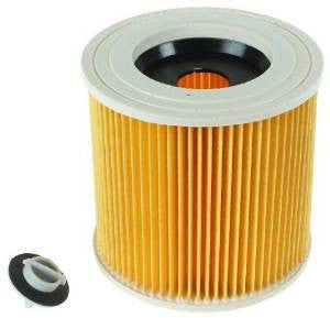 Karcher Wet & Dry cartridge filter (Equivalent to 64145520) Fits Models A2004, VC6100, A2504 and many more  Radford Vac Centre  - 1