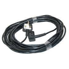 Flex 12 Metre 1.0mm 2 Core Black 2 Pin Plug  Radford Vac Centre  - 1
