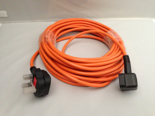 Flex 12 Metre 1.0mm 3 Core Orange 3 Pin Plug  Radford Vac Centre  - 1