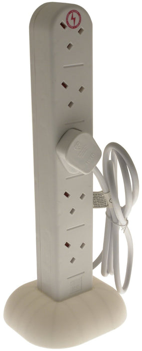 10 Way Surge Protected Vertical Tower Extension with 2 metre Lead  Radford Vac Centre  - 1