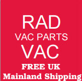 Complete replacement tool kit 2.5 Meter includes hose, tools, rods  Radford Vac Centre  - 2