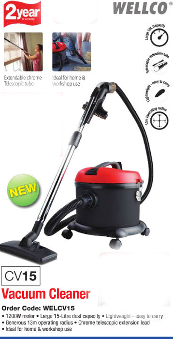 Wellco CV15 Tub vacuum cleaner - 2 years guarantee  Radford Vac Centre  - 2