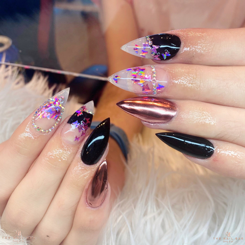 butterfly stiletto nails