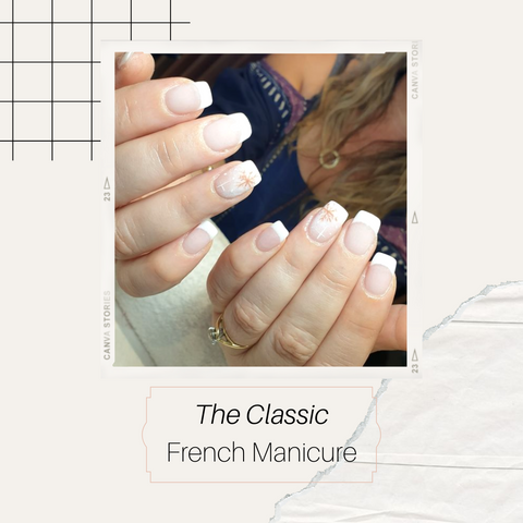 Classic French manicure with white tips