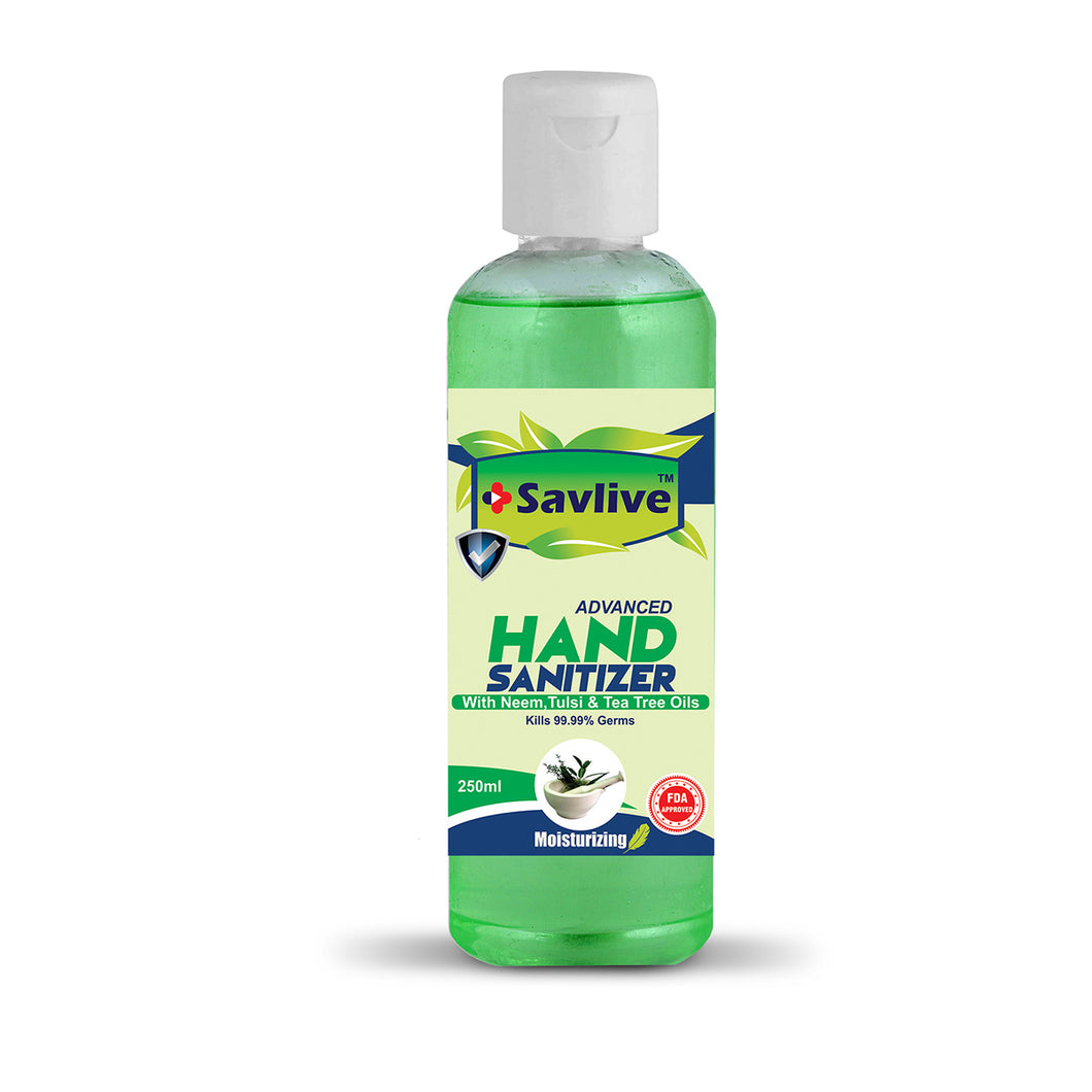 Hand Sanitizer - Neem, Tulsi & Tea Tree Oils