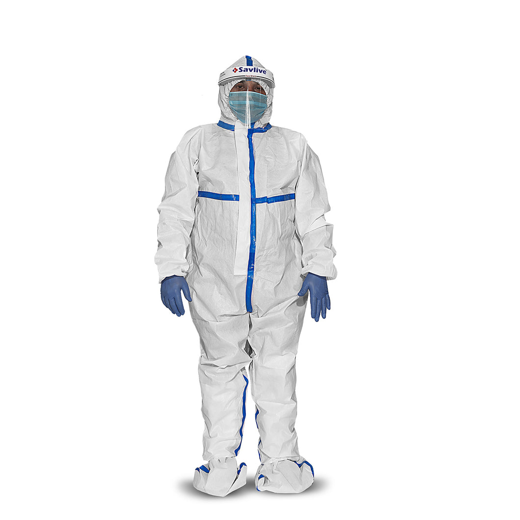 PPE Kit Advance Cold- Seam Sealed (White- Blue)