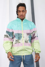 Load image into Gallery viewer, Vintage 80's Printed Windbreaker / Shell Jacket.Festival / Ski. MEDIUM.